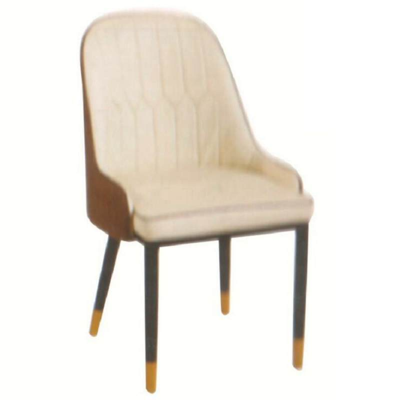 椅子北欧轻奢餐椅家用餐厅凳子铁艺洽谈软包接待会议靠背椅酒店椅
