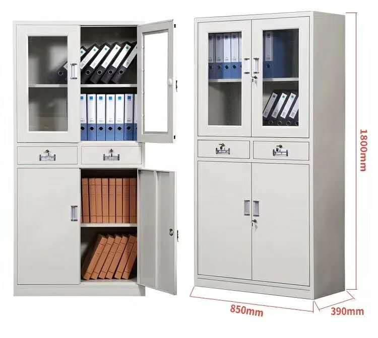 办公室钢制文件柜子铁皮柜玻璃抽屉资料档案柜财务储物凭证书柜