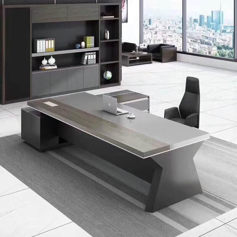 老板桌总裁桌简约现代经理桌单人办公桌椅组合主管桌大班台