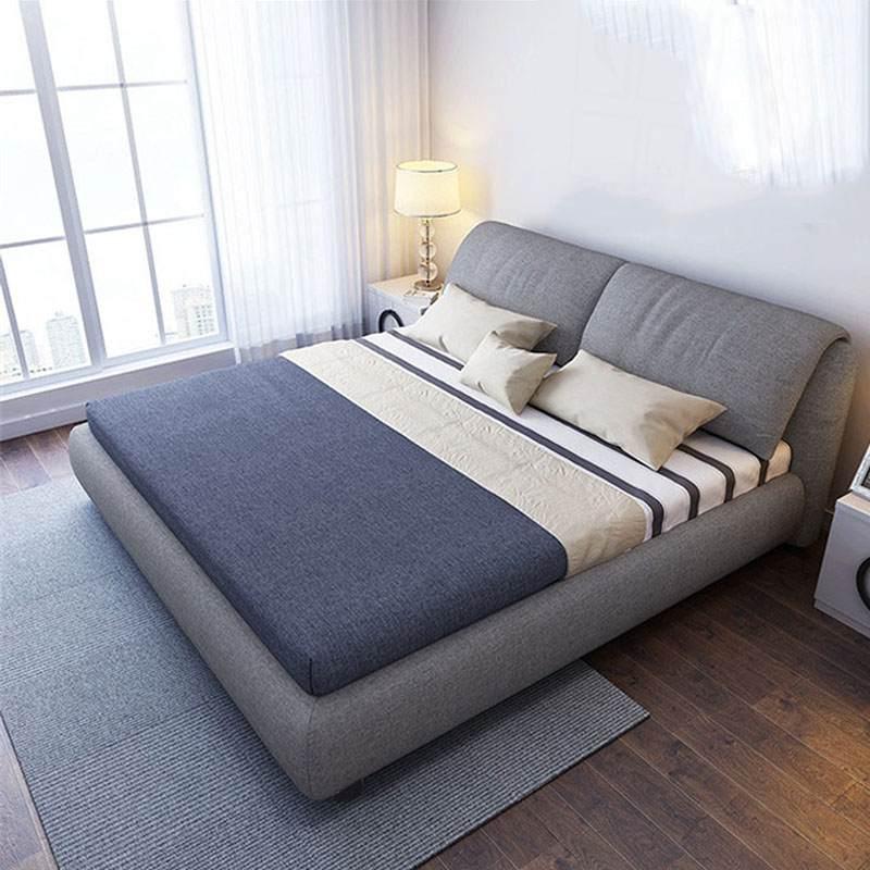 北欧1.8米双人床 轻奢网红软床 软靠可拆洗 储物布床