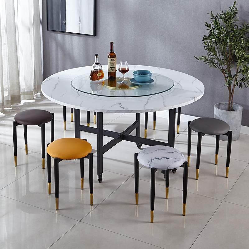 折叠圆桌家用简易大圆桌面可折叠餐桌子饭桌子现代简约多功能餐桌
