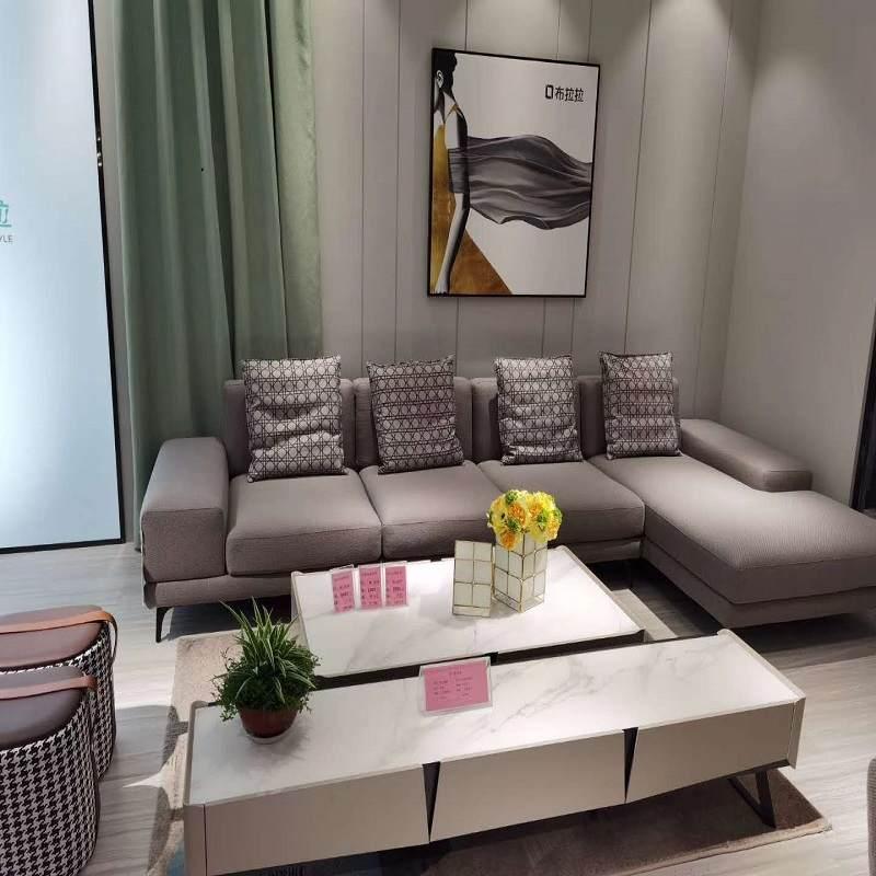 极简风格科技布沙发现代简约小户型家具可拆洗布艺沙发贵妃组合