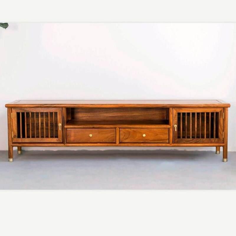 新中式现代简约实木电视柜矮柜子地柜民宿会所家具客厅卧室落地柜