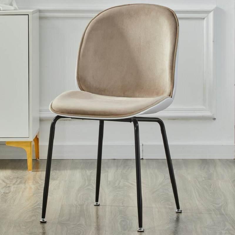 北欧靠背椅子网红ins现代简约创意塑料家用少女单人甲壳虫化妆椅
