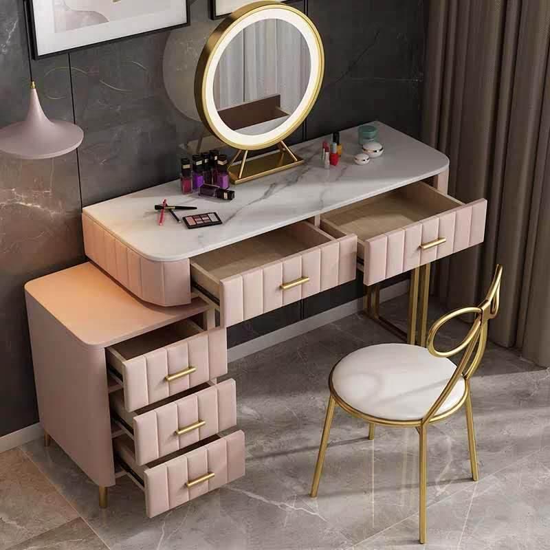 北欧大理石梳妆台收纳柜一体化妆台卧室网红ins风现代简约小户型
