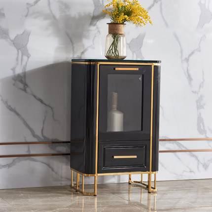 酒柜抖音款轻奢床边柜多功能储物柜创意床头柜北欧风格茶水柜