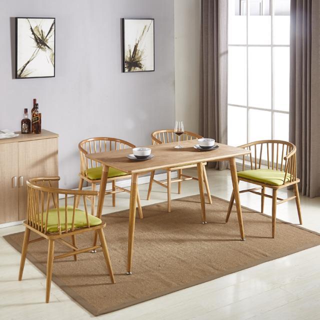 餐桌椅组合北欧美式现代简约家用酒店连锁餐厅吃饭桌子