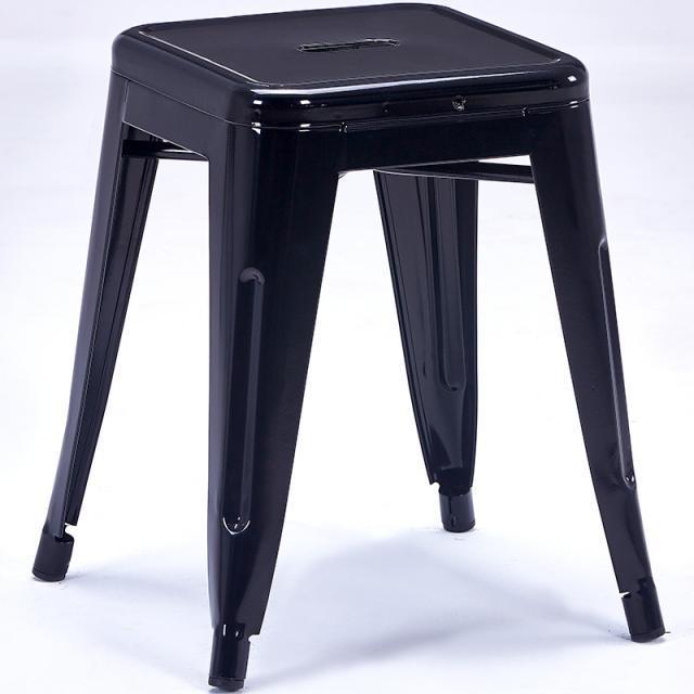 美式 铁艺凳子铁皮方凳时尚个性创意金属酒吧简约铁吧台凳工业风