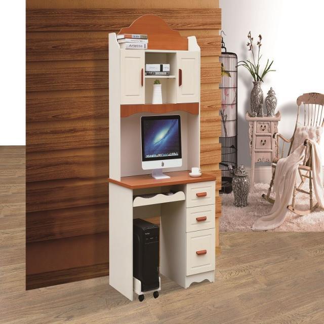 电脑桌台式桌家用简约卧室经济型书桌书架组合办公简易桌子