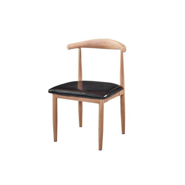 仿实木铁艺牛角椅咖啡厅火锅店主题桌椅汉堡店饭店快餐桌椅组合