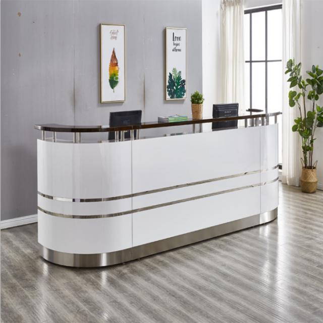 收银台柜台吧台桌子简约现代理发店超市欧式小型前台美容院接待台