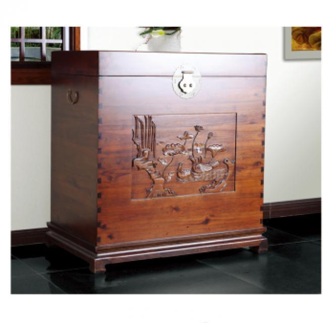 淳木世家中式古典复古樟木箱子储物箱大木箱嫁妆衣箱婚嫁箱
