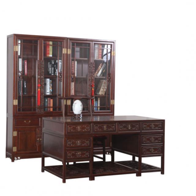 淳木世家中式实木书桌复古老板桌大班台电脑桌写字台