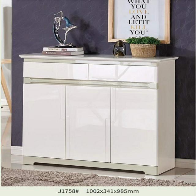 现代简约玄关门厅柜白色简易经济大容量阳台客厅储物柜烤免漆鞋柜