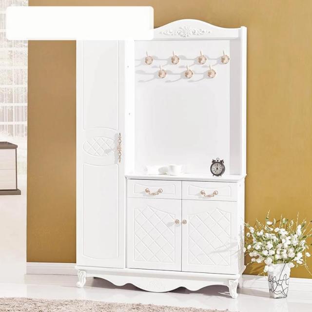 鞋柜挂衣柜简约现代烤漆多功能门厅玄关柜隔断衣帽架对开门鞋柜
