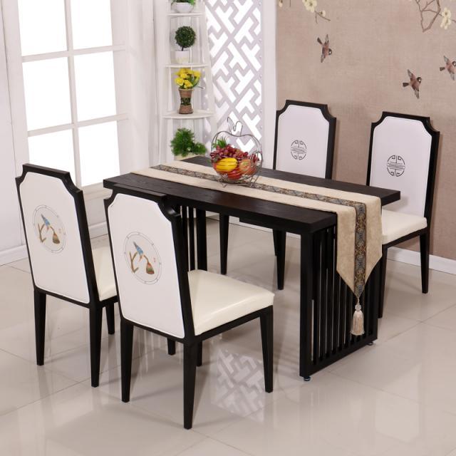 新中式铁艺餐椅古典家具家用奶茶咖啡厅酒店餐桌椅批发