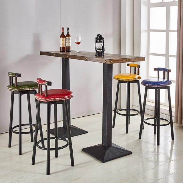 北欧休闲吧台椅现代简约酒吧椅家用复古创意个性时尚高脚椅吧台凳