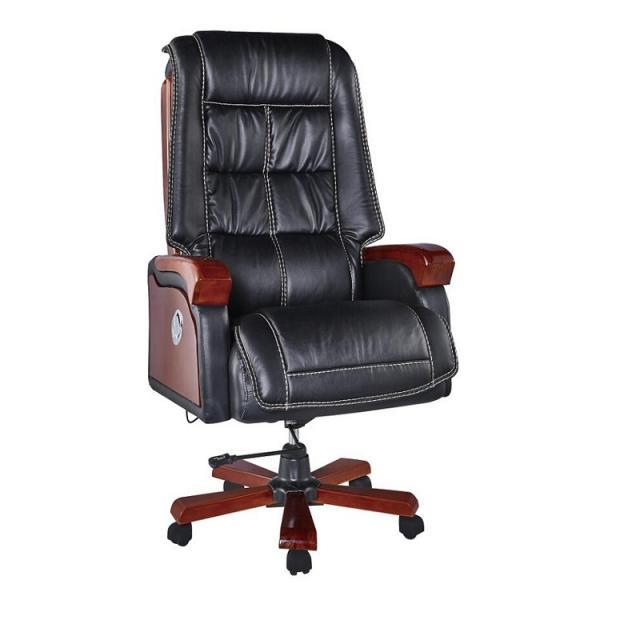 老板椅真皮实木逍遥升降旋转电脑椅家用 现代休闲按摩座椅办公椅