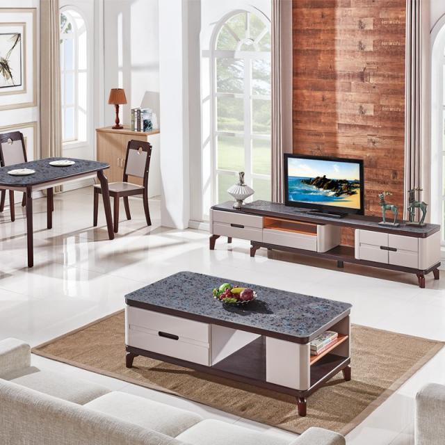 茶几简约客厅简易钢化玻璃茶桌现代小户型家用小茶台经济型电视柜