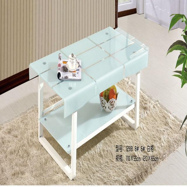 烤漆茶几长方形简约现代钢化玻璃面大小户型客厅创意小桌子定做制