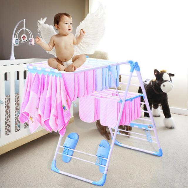室内晾衣架落地折叠阳台晒衣架家用简易凉衣服婴儿尿布挂衣架子