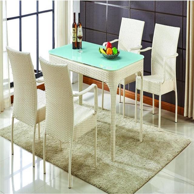 仿藤桌椅/别墅花园家具户外休闲椅庭院室外桌椅阳台藤椅 餐厅桌椅