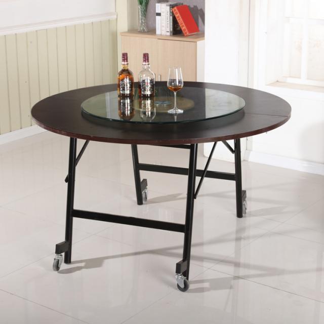 折叠桌圆形餐桌简易圆桌简约圆桌家用饭桌便携式大排档可折叠桌子