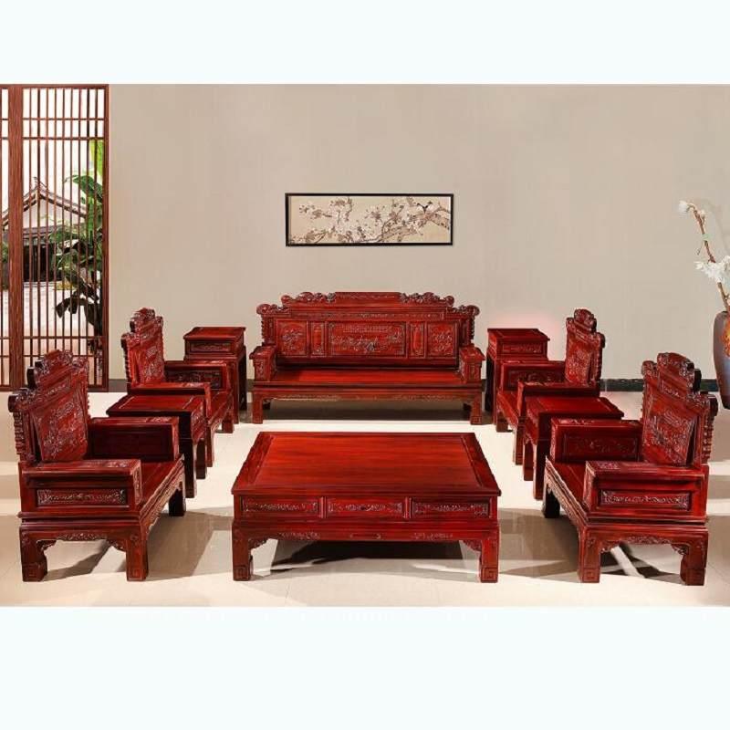 东阳红木厂家直销非洲酸枝木明清古典兰亭序沙发