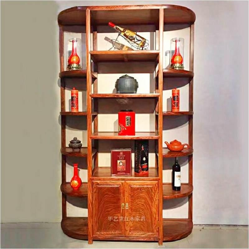 红木家具仿古中式花梨木 刺猬紫檀实木书柜书房书架博古架