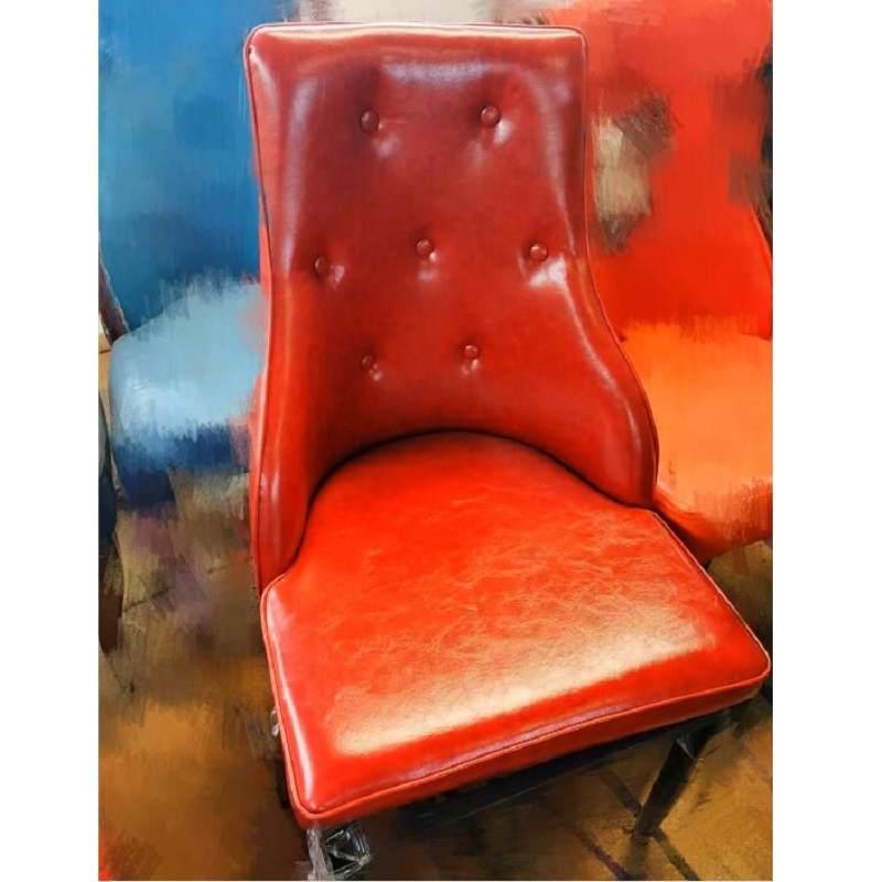 铁艺仿实木椅包布椅包房包厢椅酒店椅宴会椅餐厅酒楼餐椅高档围椅