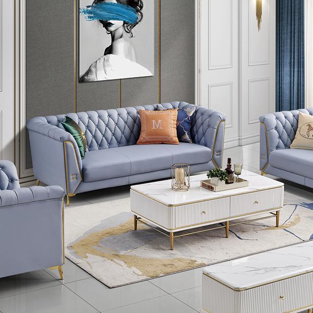 北欧简约超纤科技皮沙发现代小户型客厅双三人位直排皮质沙发组合