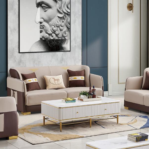 北欧真皮沙发纳帕家具意式极简约现代大小户型客厅三人位沙发