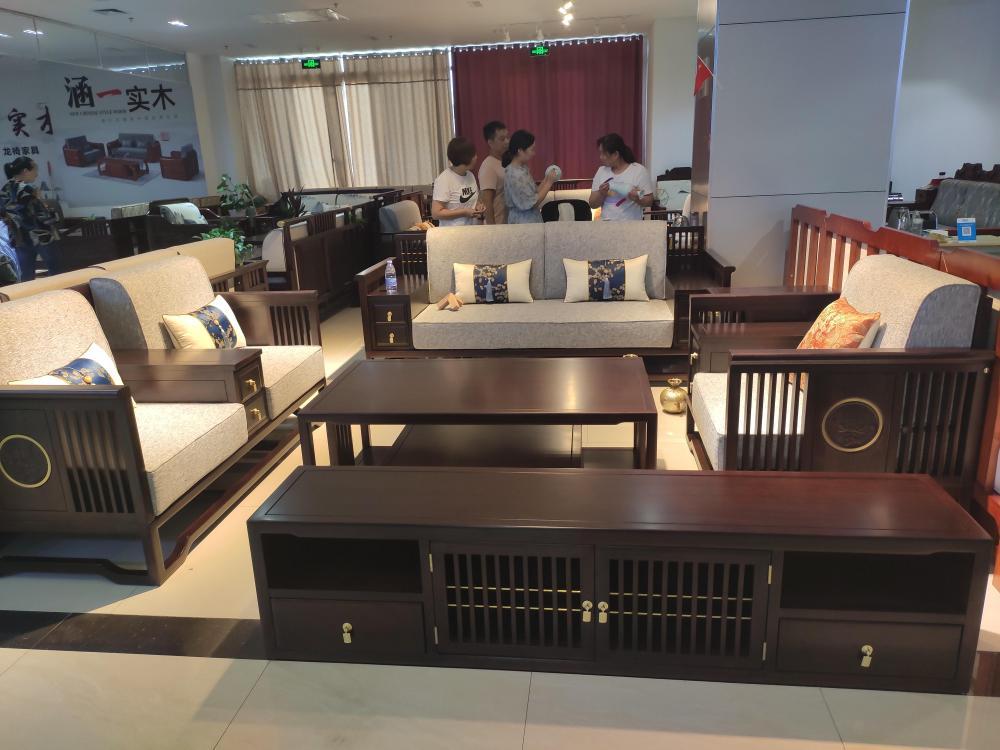 新中式实木沙发