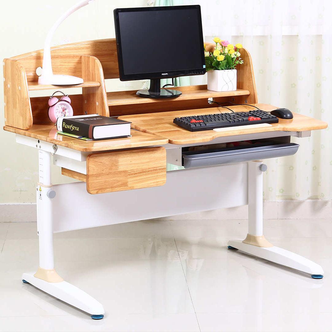 护眼博士实木儿童学习桌男孩女孩小学生书桌可摇升降写字桌椅套装