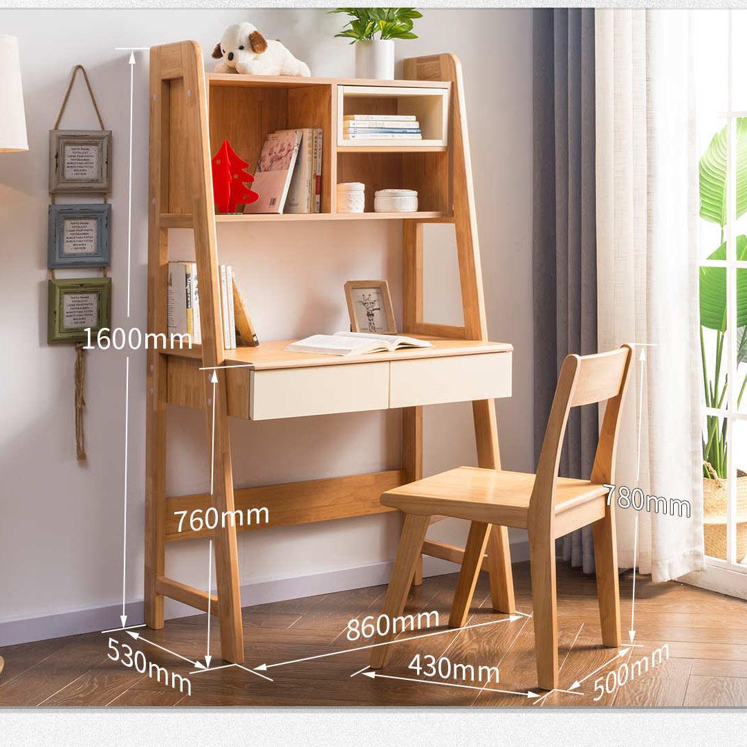 书桌实木家用学生单人写字台60cm迷你小型70窄小桌子长卧室电脑桌