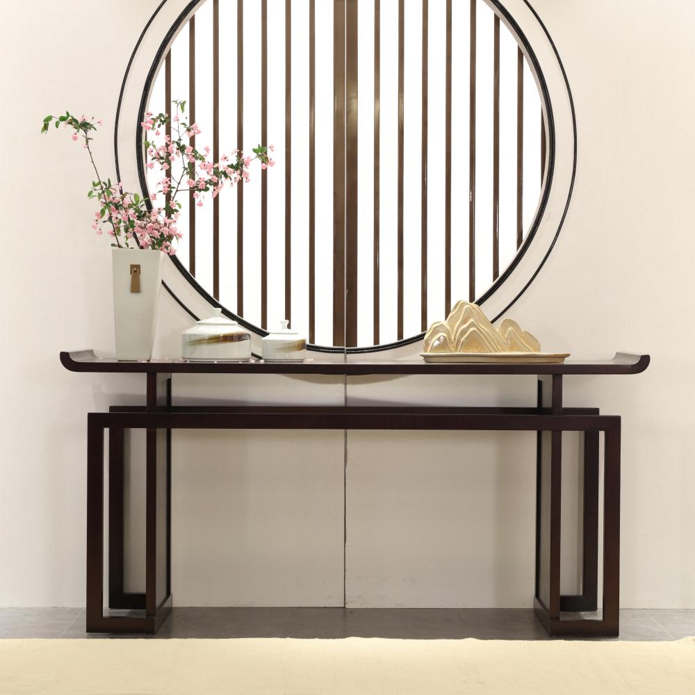 新中式玄关台 现代中式禅意简约玄关桌 入户条案供桌 端景台玄关