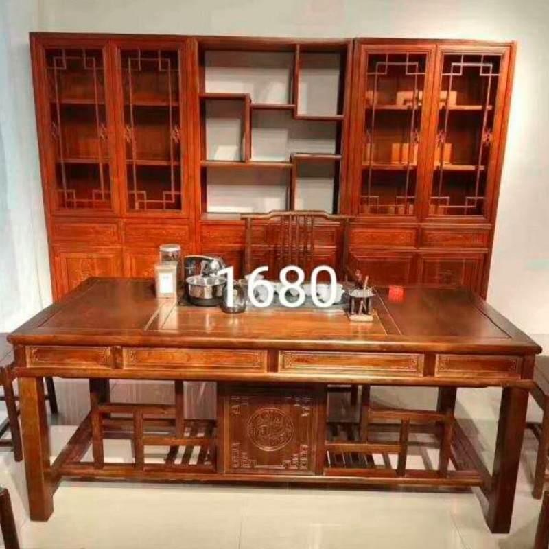 茶桌椅组合实木功夫茶几茶具套装桌子一体家用办公室榆木喝泡茶台