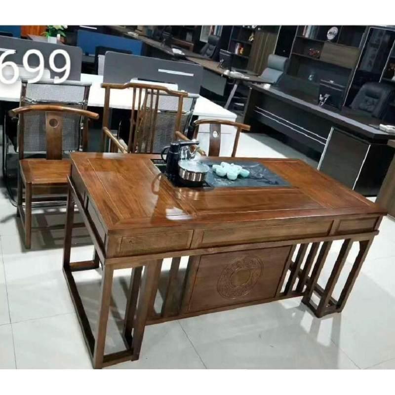 新中式简约实木茶桌椅组合家用泡茶台功夫茶几茶道桌茶具套装一体