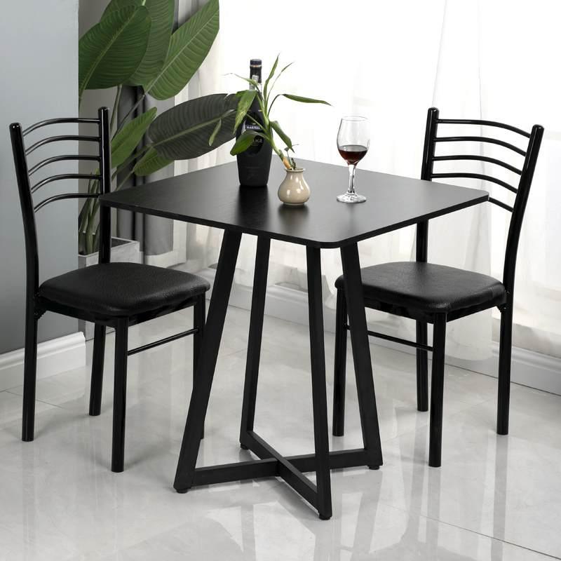 北欧方桌小餐桌椅组合家用洽谈桌圆桌接待阳台咖啡桌休闲简约现代