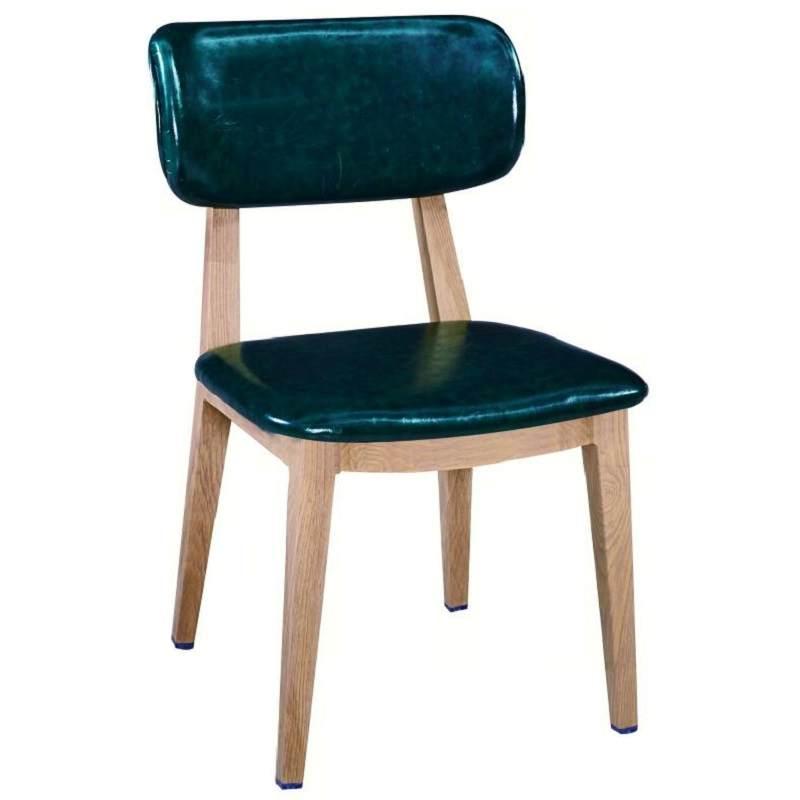 实木墨绿色家用靠背酒吧北欧式美式乡村书房简约复古铁艺餐椅