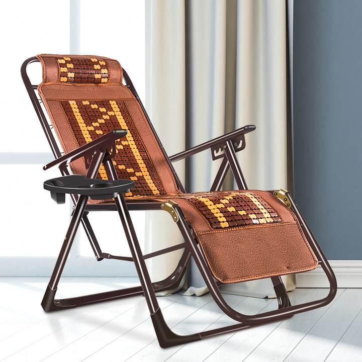 多功能折叠休闲躺椅沙滩靠背竹席凉椅老人家用午休午睡阳台藤椅子