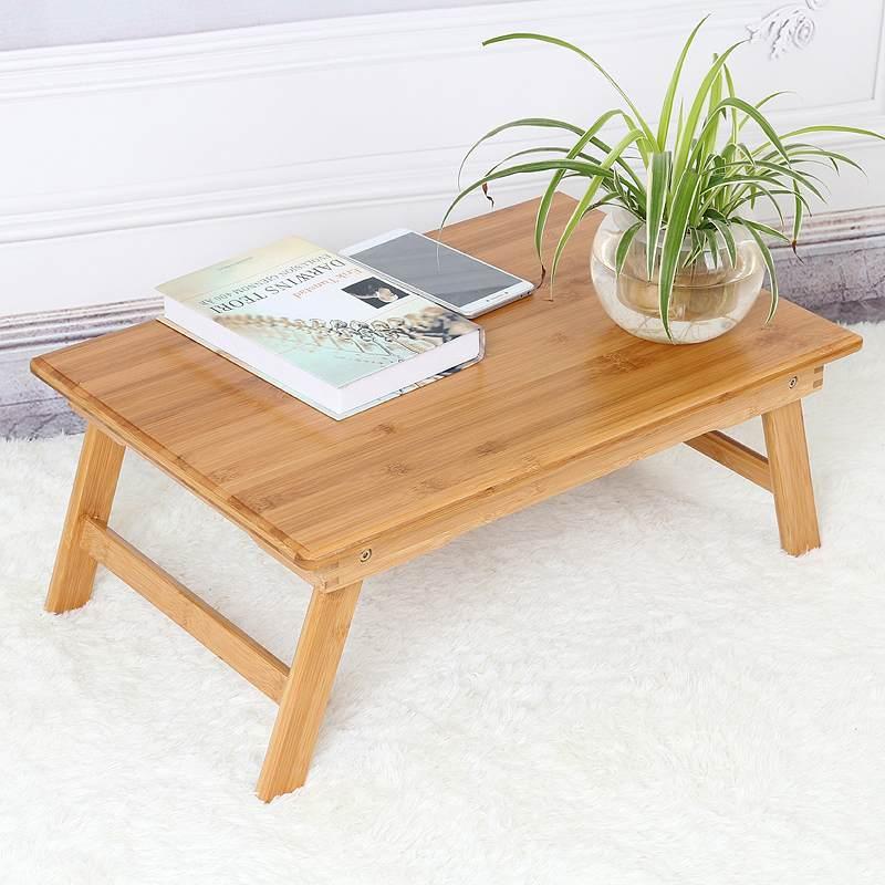 折叠炕桌楠竹飘窗桌子实木小长方桌榻榻米茶几懒人床上电脑桌整装