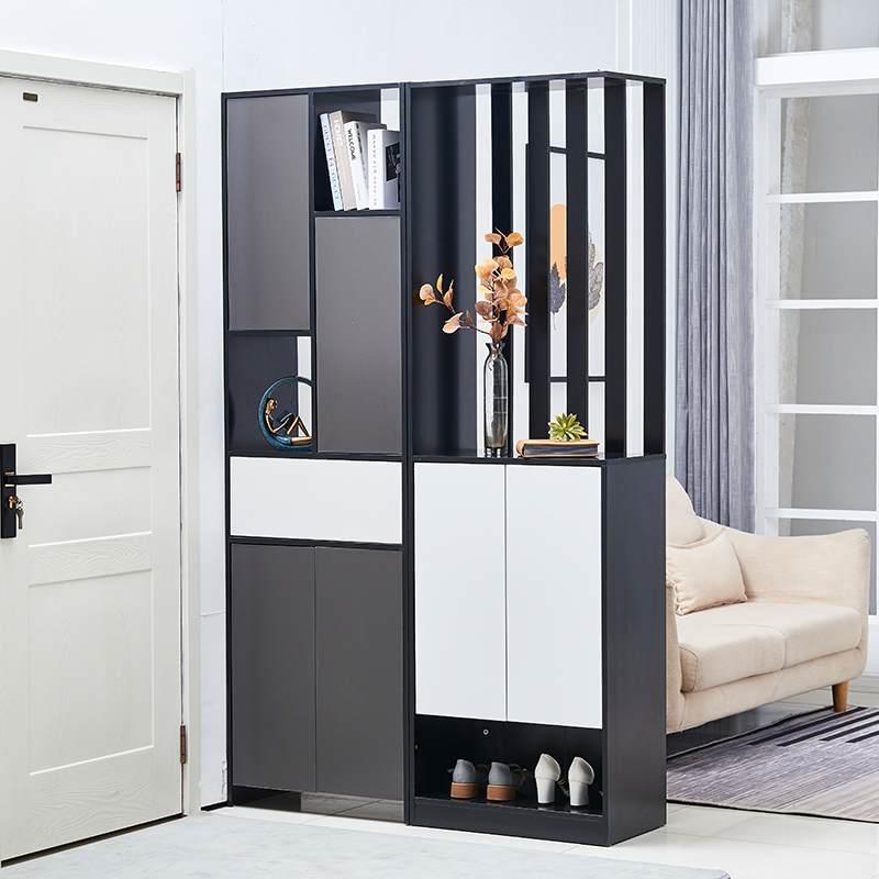进门玄关柜鞋柜一体现代简约客厅隔断柜双面屏风装饰轻奢风间厅柜