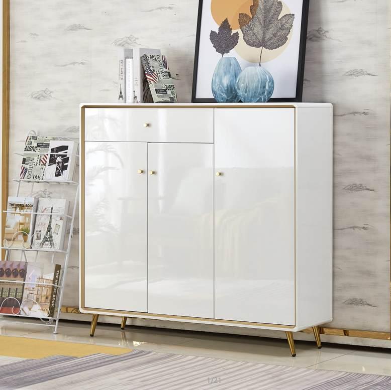 鞋柜轻奢风入户玄关简约现代北欧进门家用门口大容量隔断门厅柜子