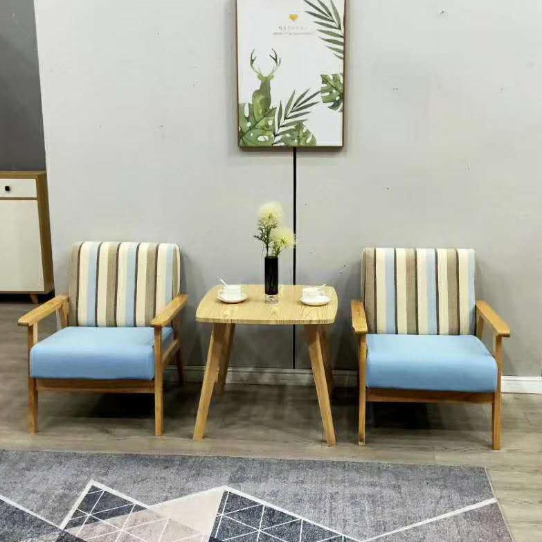 北欧奶茶甜品店桌椅组合咖啡厅服装店铺单人休闲网红款ins小沙发