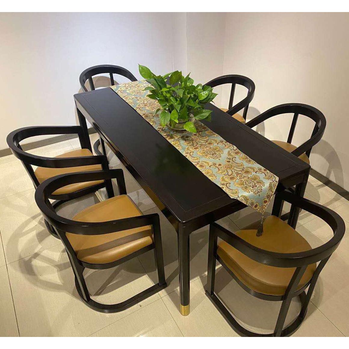 铁艺实木餐桌家用餐饮咖啡厅长方形办公会议桌电脑桌客厅桌椅组合