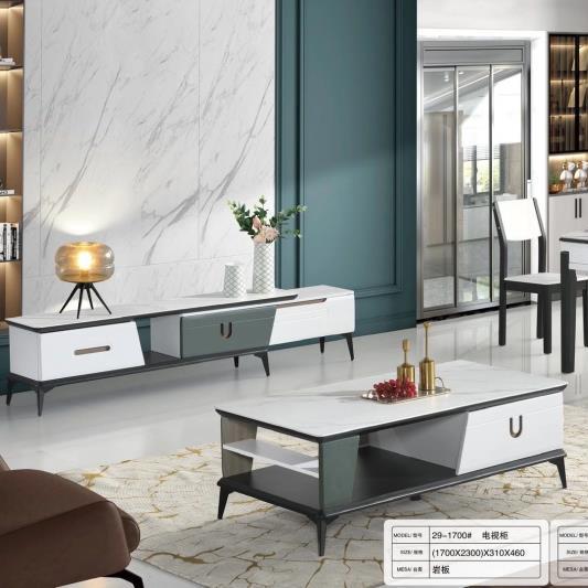 岩板长方形现代简约茶几伸缩组合烤漆意式北欧小户型客厅方几地柜