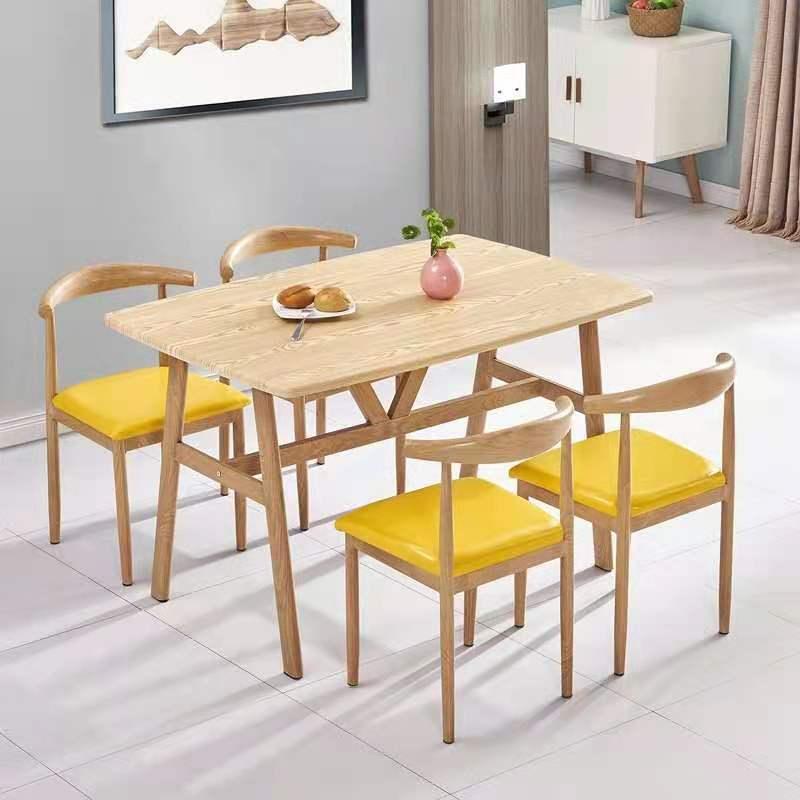 餐桌椅组合家用小户型现代简约北欧出租房用经济型餐厅长方形桌椅