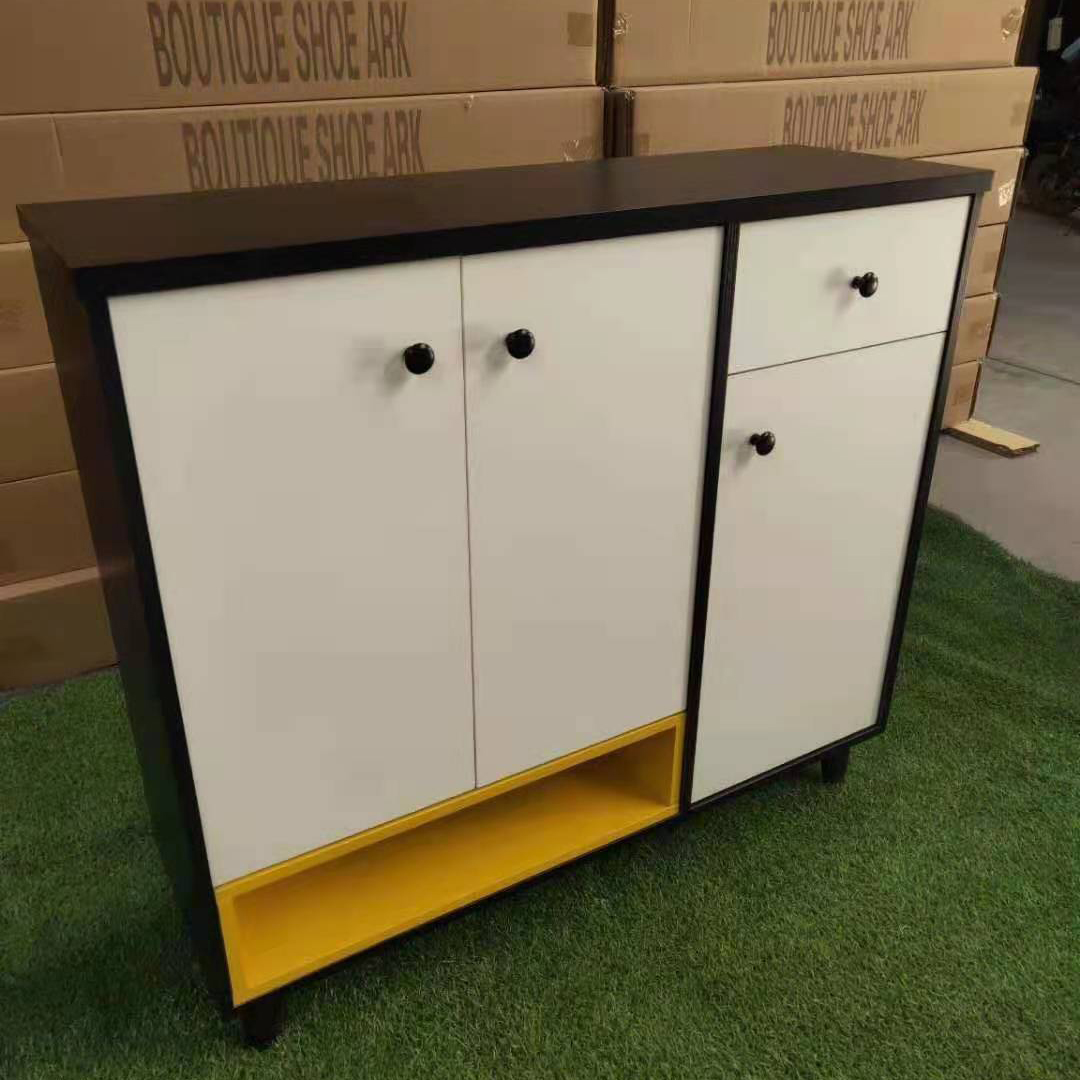 新款鞋柜两开门三开门出租屋家用便宜经济型加厚板材