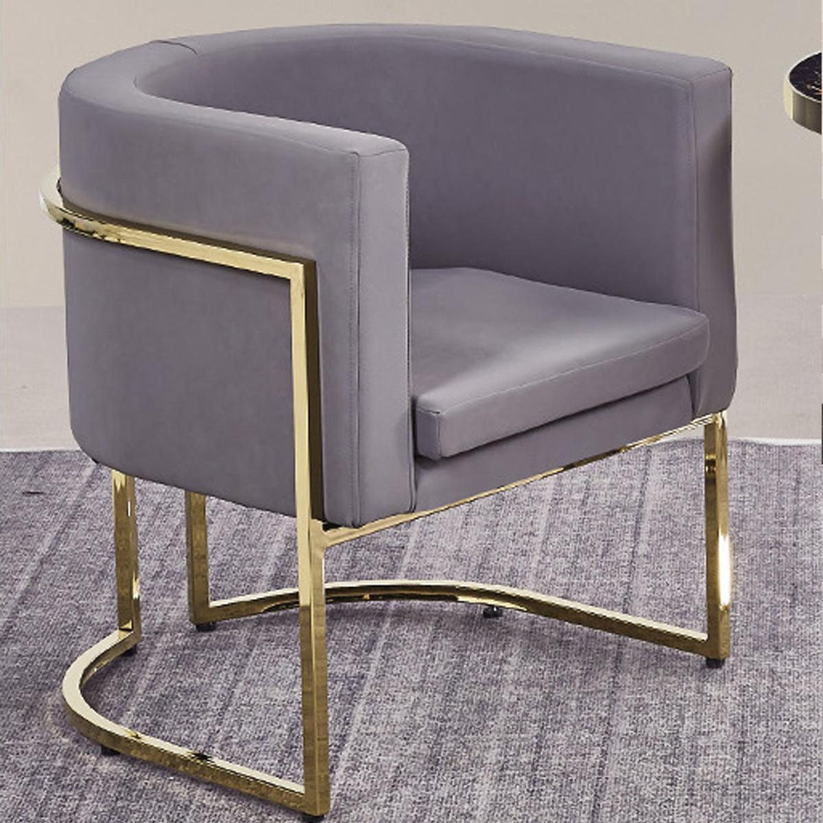现代简约轻奢铁艺单人设计师沙发椅北欧休闲会客接待洽谈一桌两椅